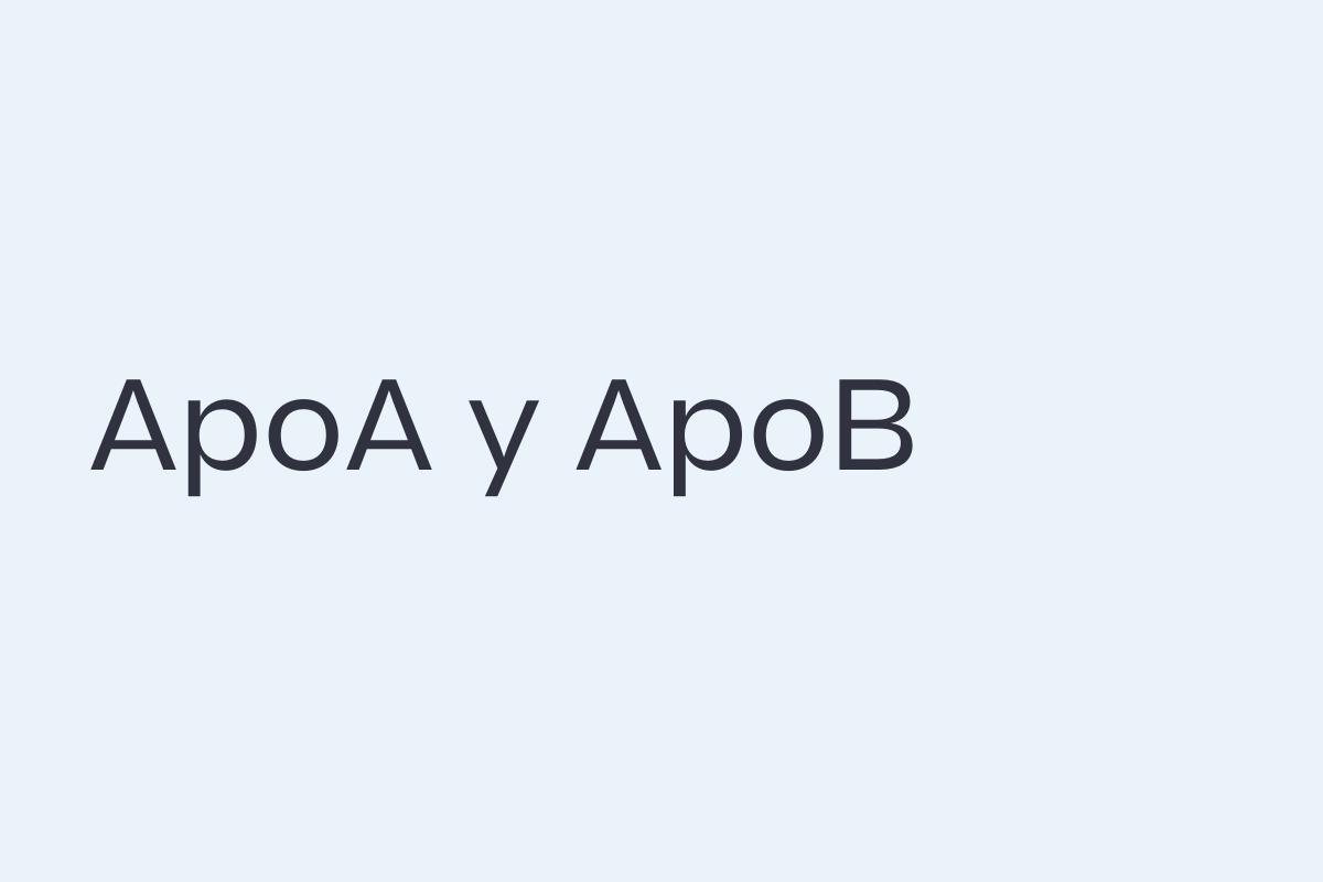 ApoB y ApoA